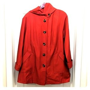 GALLERY HOODED SWING JACKET LARGE